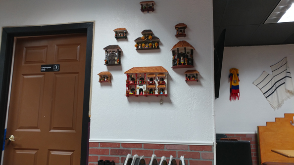 Nice house and decorations on the wall