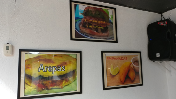 Examples of food pictures on the wall