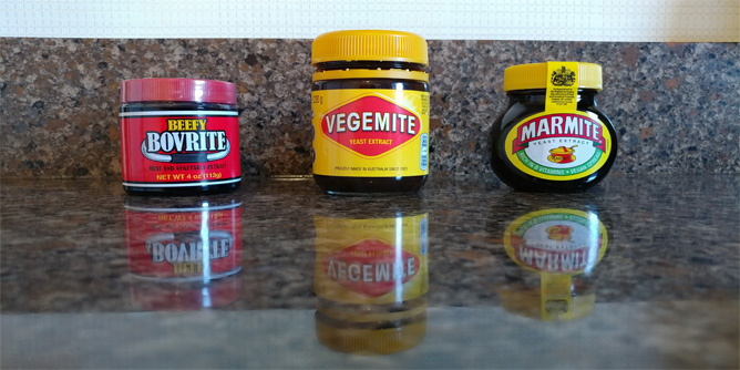 Bovril, Vegemite, Marmite