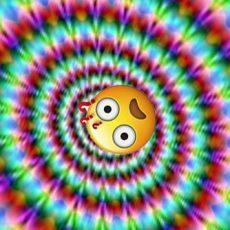 psychedelic emoji tunnel